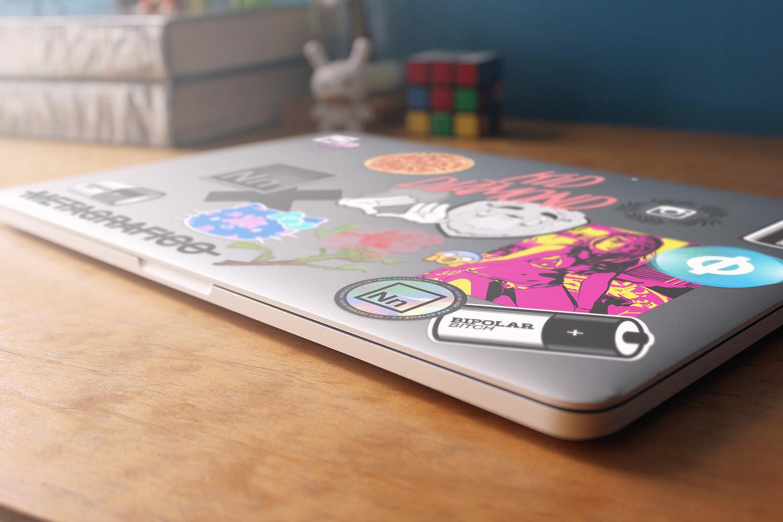 Stickers en MacBook 2